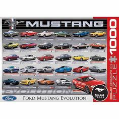 EuroGraphics Ford Mustang Evolution 50th Anniversary 1000-Piece Puzzle