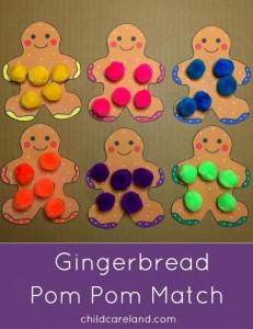 Gingerbread Pom Pom Match