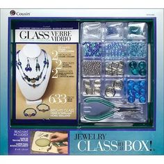 Cousin Jewelry Class in a Box Kit, Bright Glass