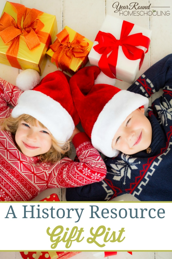 A History Resource Gift List - By Joelle