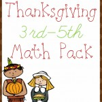 Free Thanksgivingl Math Pack (3rd-5th)SQ