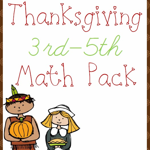 Thanksgiving Math Pack (3rd-5th)
