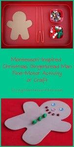 Christmas Gingerbread Man Fine-Motor Activity