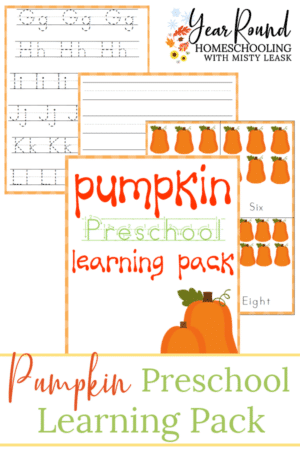 Pumpkin Preschool Learning Pack