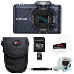 Samsung WB50F Smart Digital Camera (Black) plus 8GB Accessory Kit