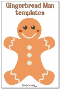 Gingerbread Man Printable Templates