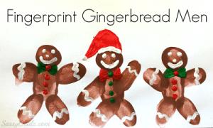 DIY Fingerprint Gingerbread Man Craft