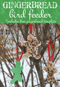 Gingerbread Craft- Bird Feeder Craft with Free Gingerbread Template