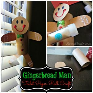 Gingerbread Man Toilet Paper Roll Craft