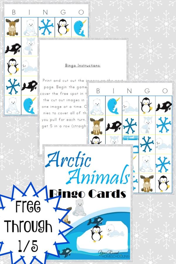 Arctic Animals Bingo Cards on 2015 December Calendar With Penguins