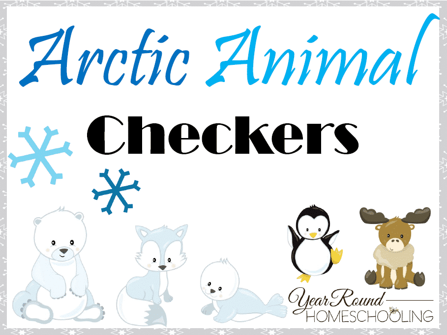 Arctic Animals Checkers