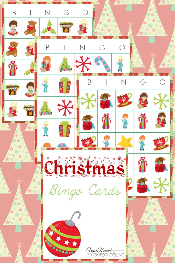 Christmas Bingo Cards - By Year Round Homeschooling