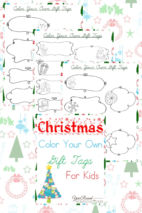 Christmas Color Your Own Gift Tags for Kids1
