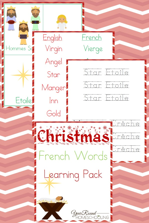 christmas french words, french christmas words
