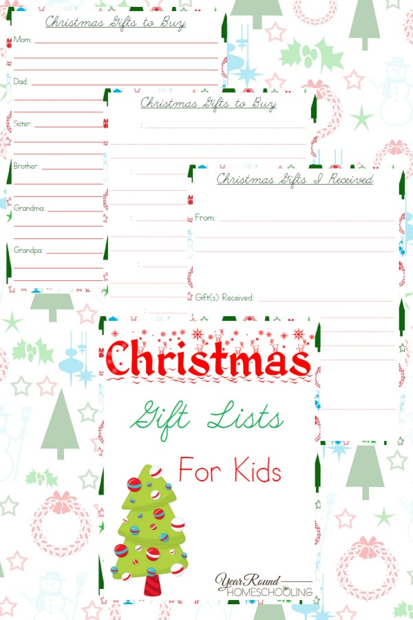 christmas gift lists for kids, christmas gift lists