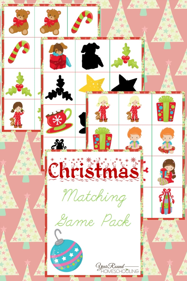 Christmas Matching Game Pack - By Year Round Homeschooling