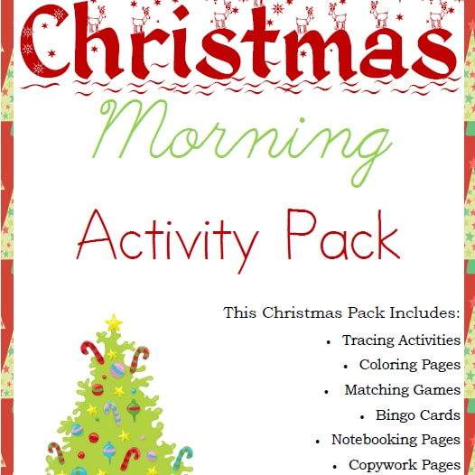 Christmas Morning Activity Pack