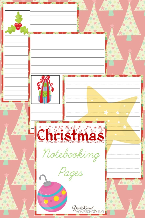 Christmas Notebooking Pages - By Year Round Homeschooling
