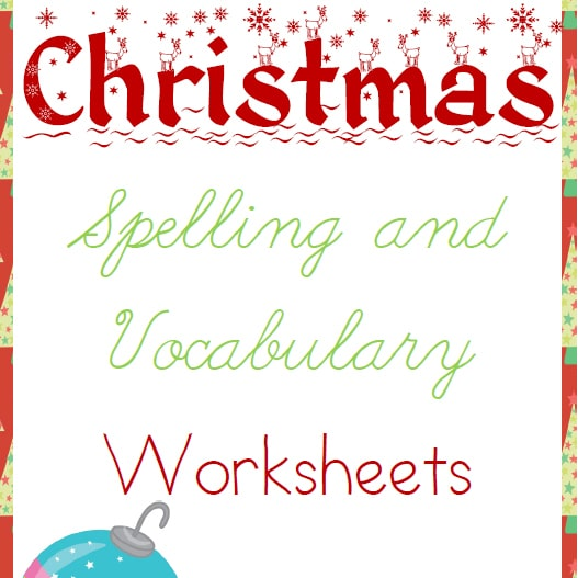 Christmas Spelling and Vocabulary Worksheets