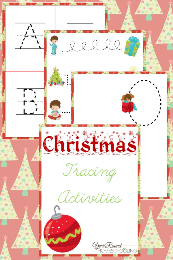 Christmas Tracing Activities - By Year Round Homeschooling