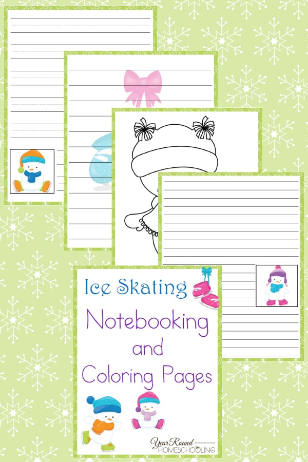 Ice Skating Notebooking and Coloring Pages - By Year Round Homeschooling