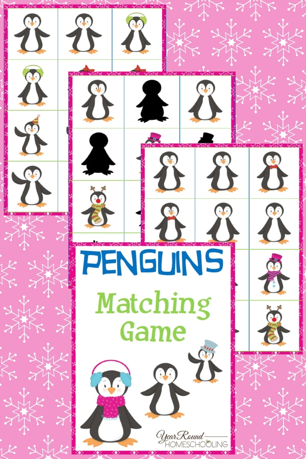 Penguin Matching Game Pack - By Year Round Homeschooling