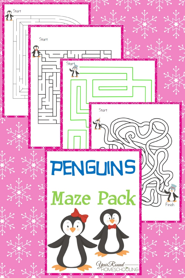 Penguins Maze Pack - By Year Round Homeschooling