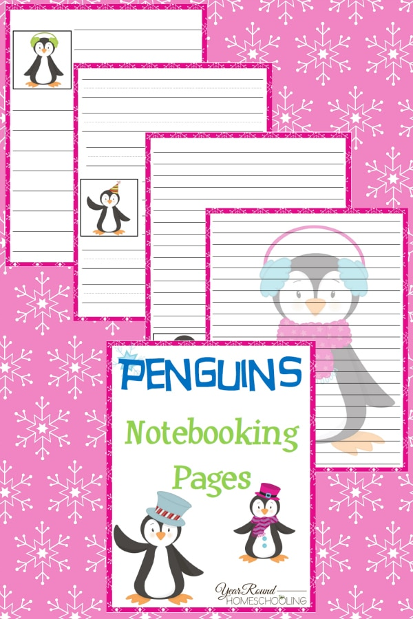 Penguins Notebooking Pages - By Year Round Homeschooling