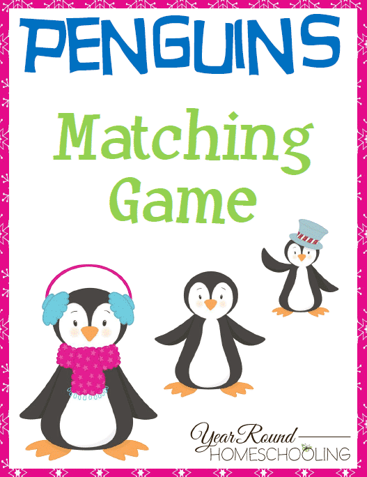 Penguins Matching Game Pack