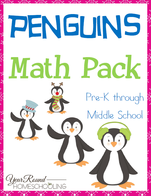 Penguins Math Pack (PreK-Middle School)
