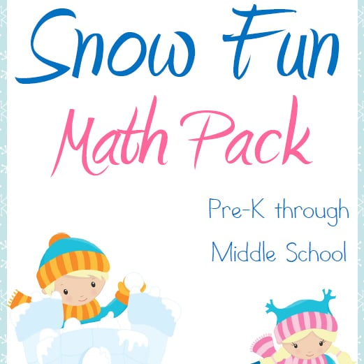Snow Fun Math Pack – PreK through Middle School