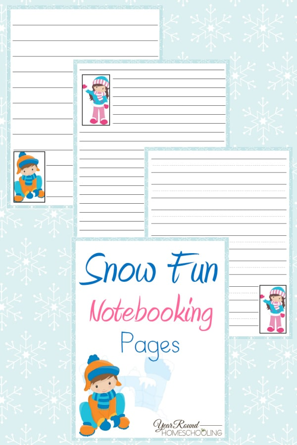 Snow Fun Notebooking Pages - By Year Round Homeschooling1