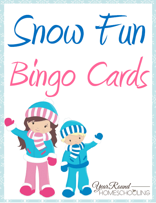 Snow Fun Bingo Cards