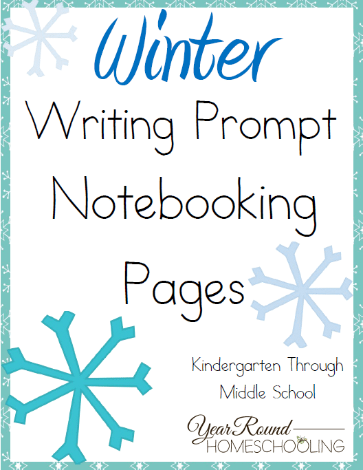 Winter Writing Prompt Notebooking Pages
