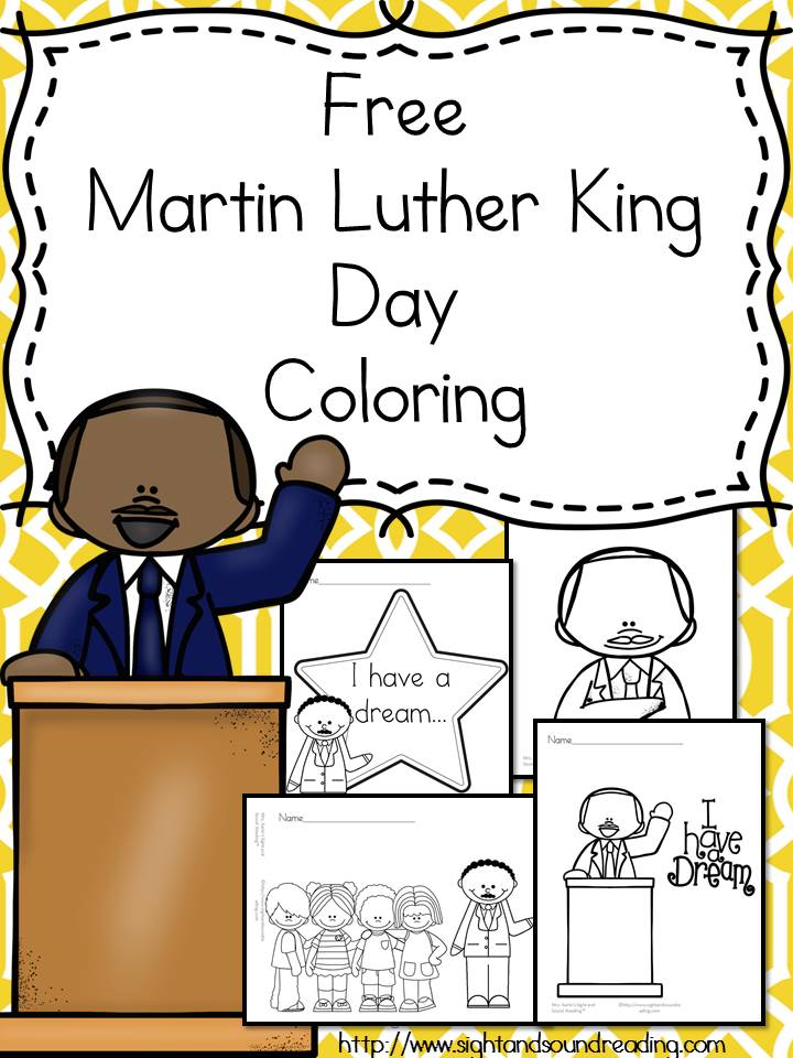 Free Martin Luther King Jr. Day Coloring Pages