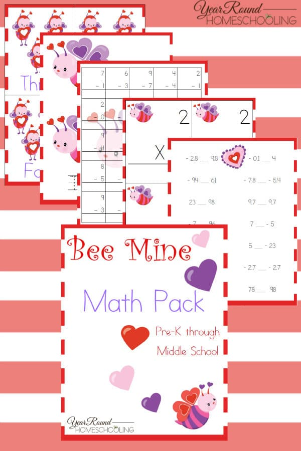 Valentine's Day Math, Valentine's Day Elementary Math, Valentine's Day Math Worksheets, Valentine's Day Math Printable