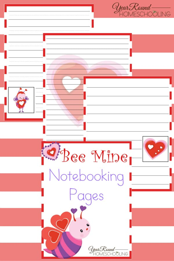 Bee Mine Notebooking Pages