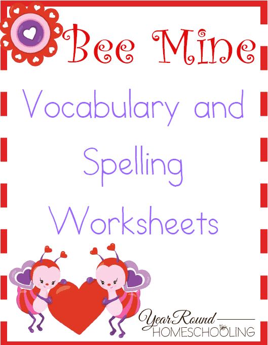 bee mine spelling vocabulary worksheets year round homeschooling. Black Bedroom Furniture Sets. Home Design Ideas