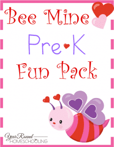 Free Bee Mine Valentine's Day PreK Pack
