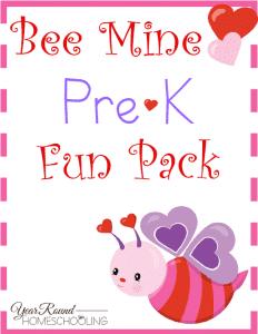 Free Bee Mine Valentine's Day PreK Pack