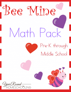 Valentine's Day, math, preschool, elementary school, middle school, homeschool, homeschooling, printable