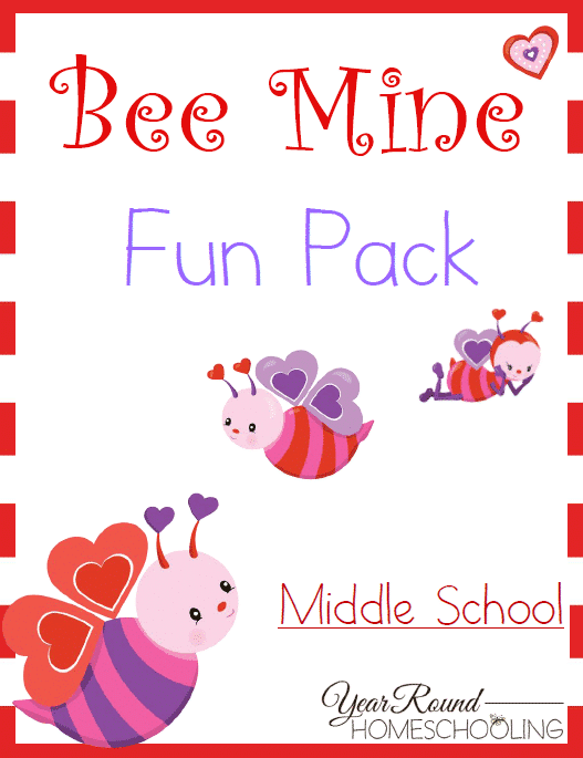Free Bee Mine Valentine's Day Middle School Fun Pack
