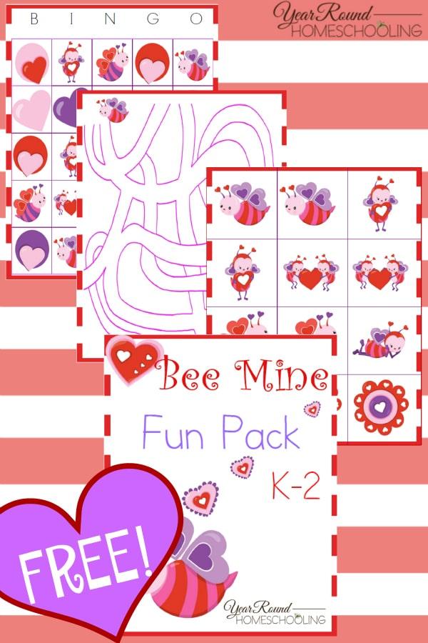 Valentine's Day, homeschool, homeschooling, K-2, kindergarten, printable, worksheets, fun, games