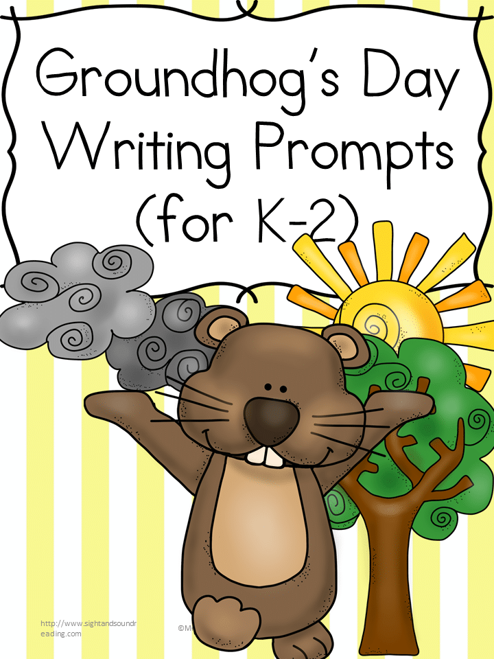Free Groundhog Day Writing Prompts for K-2