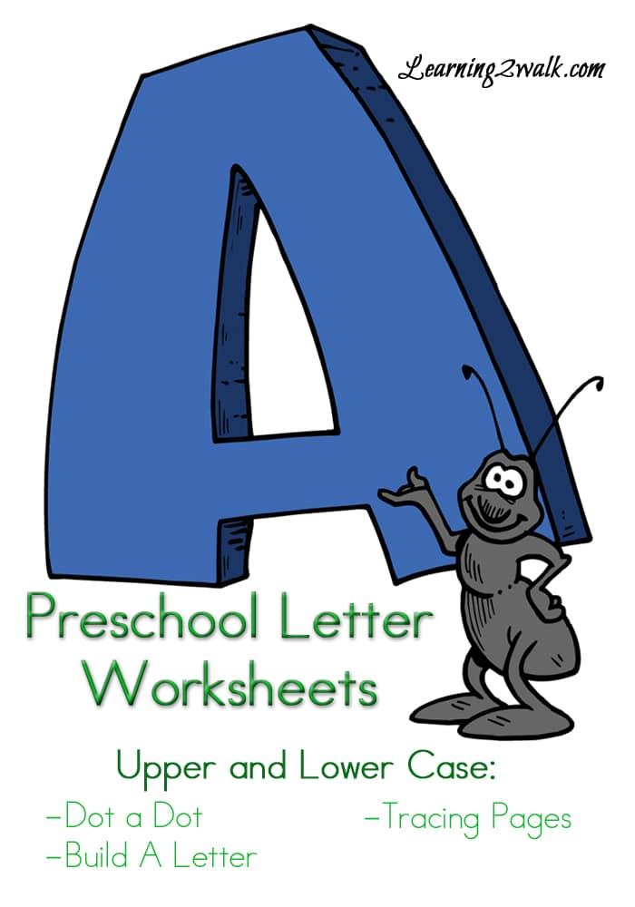 "Free Preschool Letter ""A"" Worksheets"