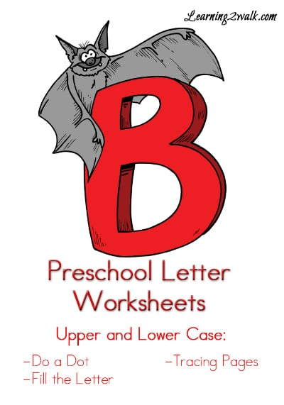 "Free Preschool Letter ""B"" Worksheets"