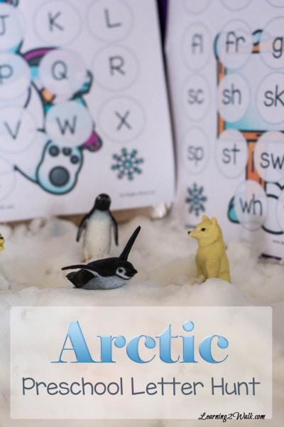 Free Arctic Preschool Letter Hunt