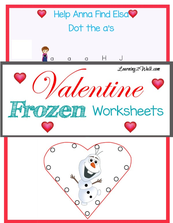 Free Valentine Frozen Worksheets