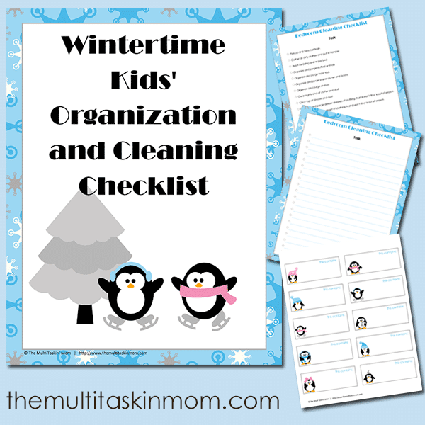FREE Wintertime Kids Organization and Cleaning Checklist