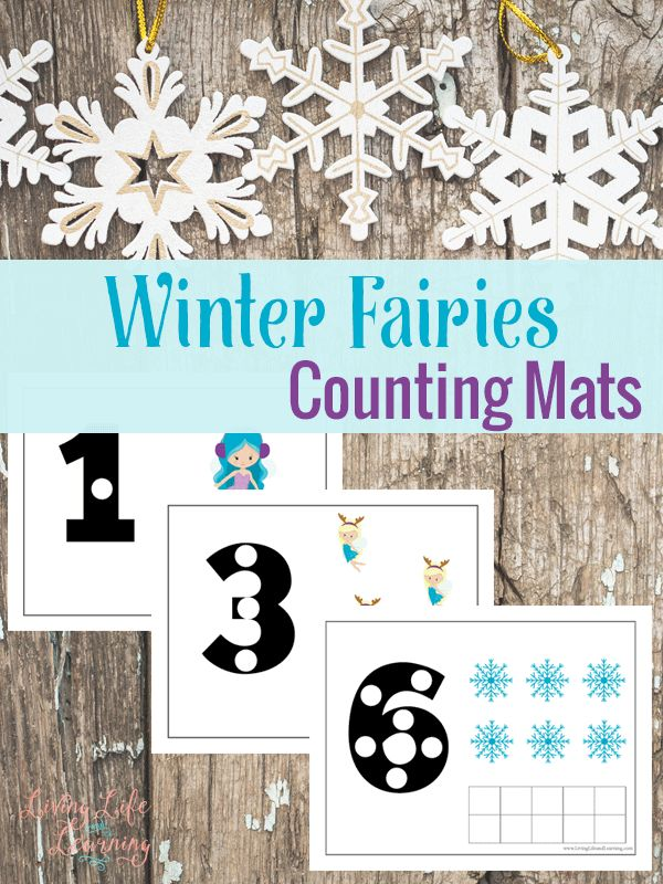 Free Winter Fairies Counting Mats